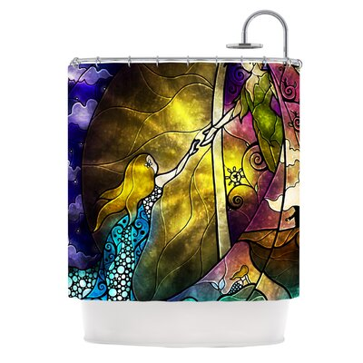Fairy Tale Off to Neverland Shower Curtain