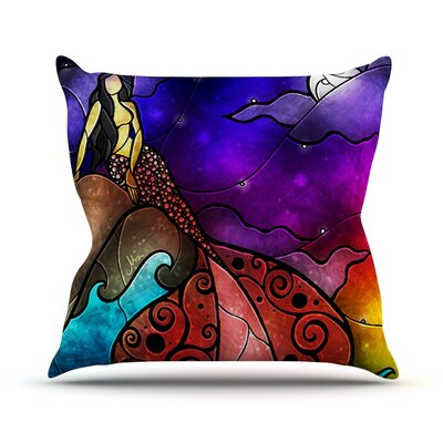 Fairy Tale Little Mermaid Throw Pillow Size: 18 H x 18 W