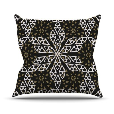 Ethnical Snowflakes Throw Pillow Size: 20 H x 20 W