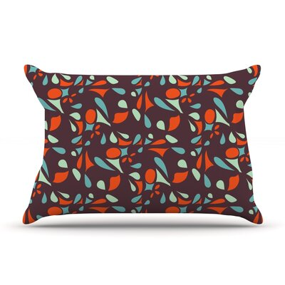 Retro Tile Pillow Case Size: King
