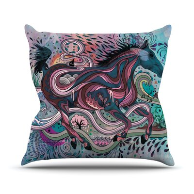 Poetry In Motion Throw Pillow Size: 20