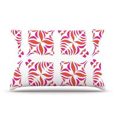 Orange Oasis Pillow Case Size: King