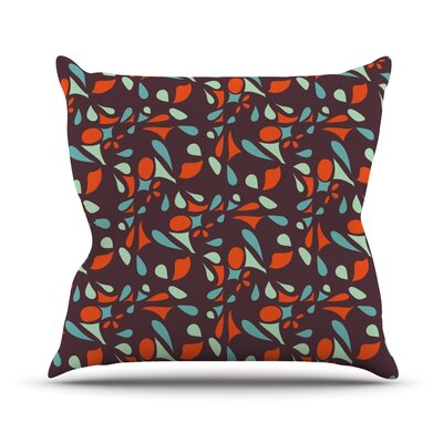 Retro Tile Throw Pillow Size: 18 H x 18 W