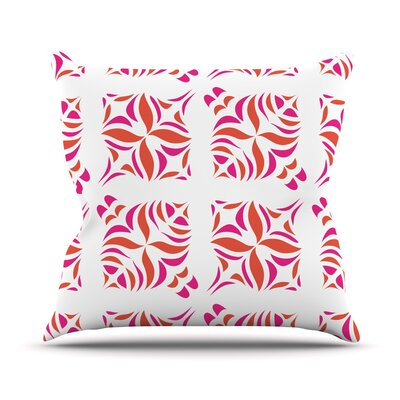 Orange Oasis Throw Pillow Size: 18 H x 18 W