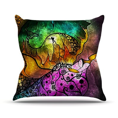 Sleeping Beauty by Mandie Manzano Fairy Tale Throw Pillow Size: 16 H x 16 W x 3 D