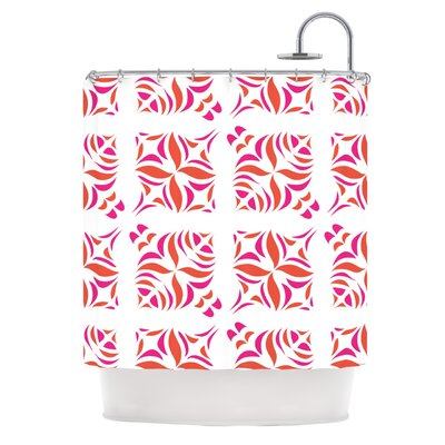 Orange Oasis Shower Curtain