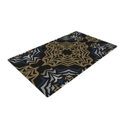 Miranda Mol Fractals Gold Area Rug Rug Size: 2 x 3