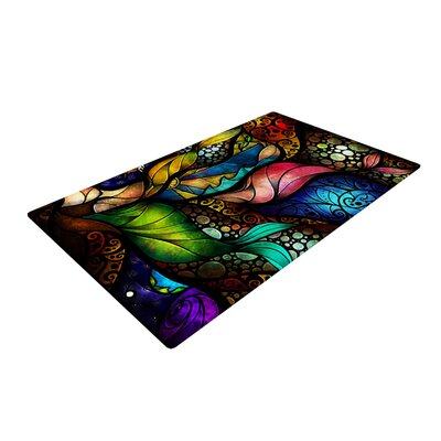 Mandie Manzano Sleep and Awake Blue/Green Area Rug Rug Size: 4 x 6
