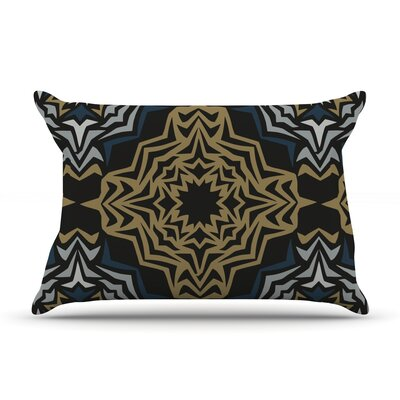 Golden Fractals Pillow Case Size: King