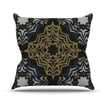 Golden Fractals Throw Pillow Size: 18 H x 18 W