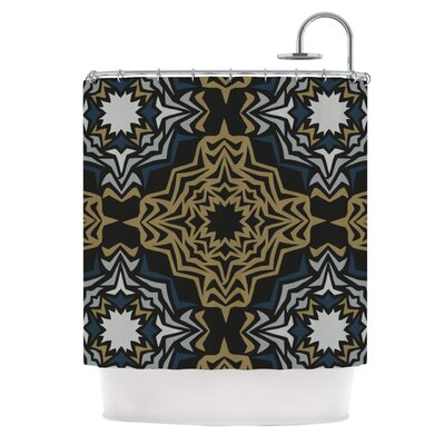 Golden Fractals Shower Curtain
