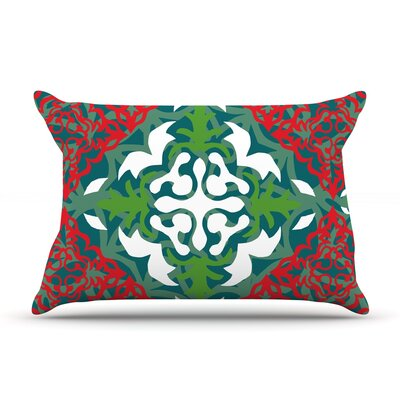 Lace Flakes by Miranda Mol Featherweight Pillow Sham Size: Queen, Fabric: Woven Polyester