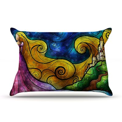 Starry Lights Pillow Case Size: King