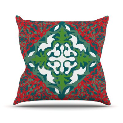 Lace Flakes Throw Pillow Size: 18 H x 18 W