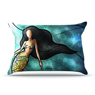 Mandie Manzano Mermaid Featherweight Sham Size: Queen, Fabric: Woven Polyester
