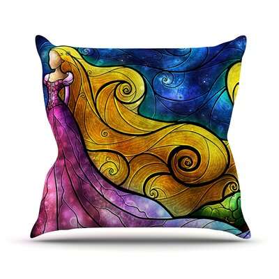 Starry Lights Throw Pillow Size: 26 H x 26 W