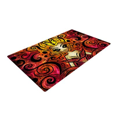 Mandie Manzano She Devil Full Red/Yellow Area Rug Rug Size: 4 x 6