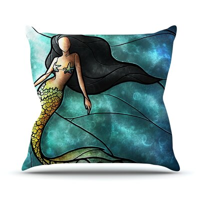 Mermaid Outdoor Throw Pillow Size: 18 H x 18 W x 3 D