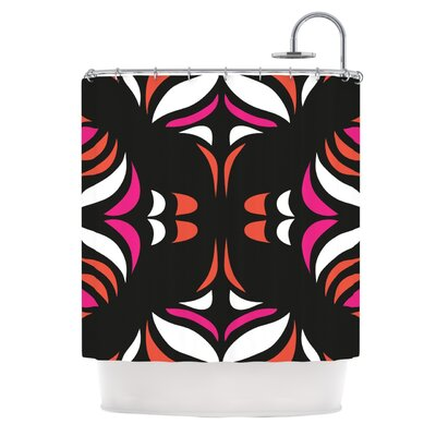 Magenta Orange Hawaiian Retro Shower Curtain