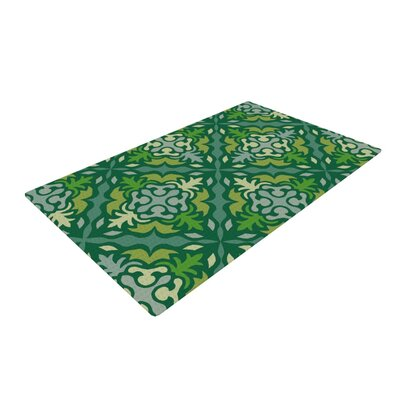Miranda Mol Yulenique Green Area Rug Rug Size: 4 x 6