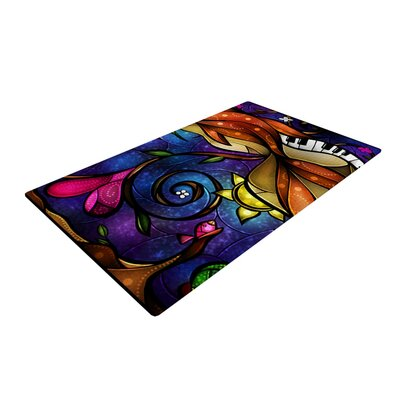 Mandie Manzano Tell Me Stories Purple/Orange Area Rug Rug Size: 2 x 3