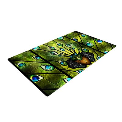 Mandie Manzano Angel Eyes Green/Black Area Rug Rug Size: 2 x 3
