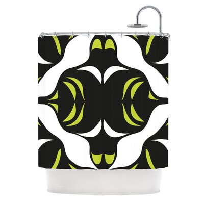 Green White Jaws�Shower Curtain