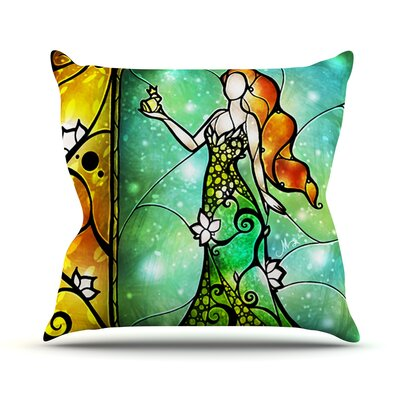 Fairy Tale Froq prince Throw Pillow Size: 26 H x 26 W