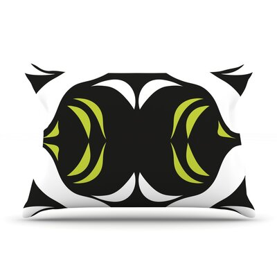 Green White Jaws Pillow Case Size: Standard