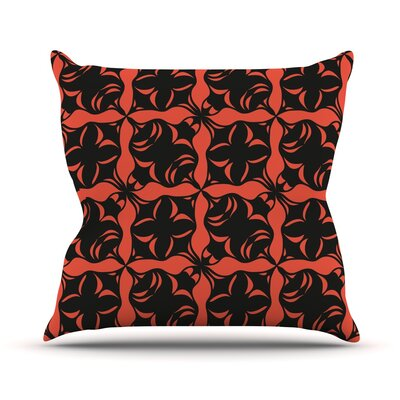 Oval Orange Love Throw Pillow Size: 26