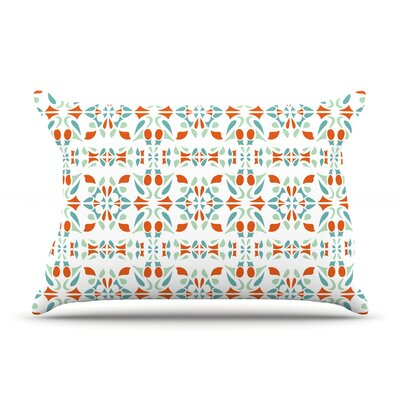Italian Kitchen Orange Pillow Case Size: King