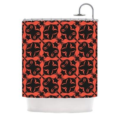 Oval Orange Love Shower Curtain