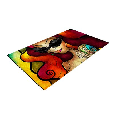 Mandie Manzano Lips Like Morphine Red/Yellow Area Rug Rug Size: 4 x 6