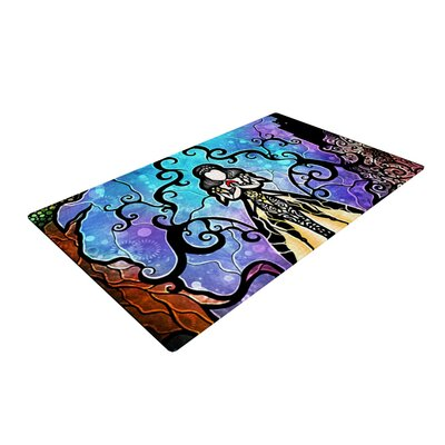 Mandie Manzano One Little Bite Purple/Yellow Area Rug Rug Size: 2 x 3