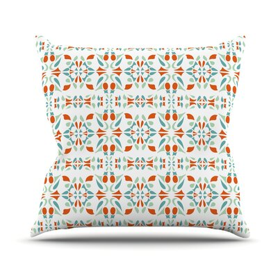 Italian Kitchen Orange  Throw Pillow Size: 18 H x 18 W