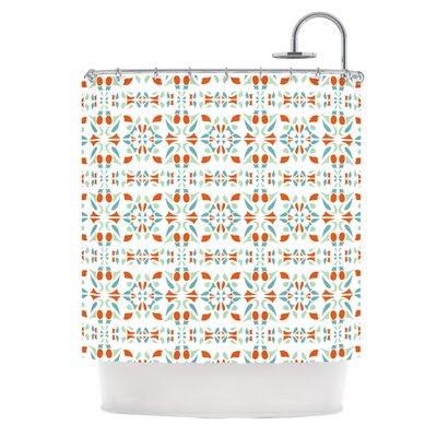 Italian Kitchen Orange Shower Curtain