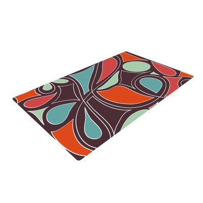 Retro Swirl Chocolate Area Rug Rug Size: 4 x 6
