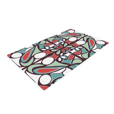 Miranda Mol Round Tiles Brown Area Rug Rug Size: 2 x 3