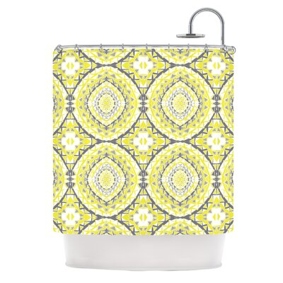Yellow Tessellation Shower Curtain