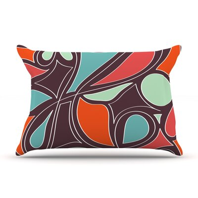 Retro Swirl Pillow Case Size: Standard