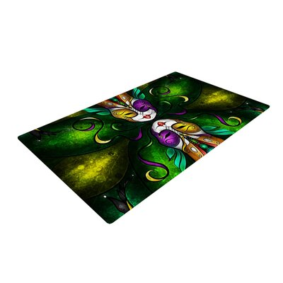 Mandie Manzano Topsy Turvy Green/Yellow Area Rug Rug Size: 2 x 3