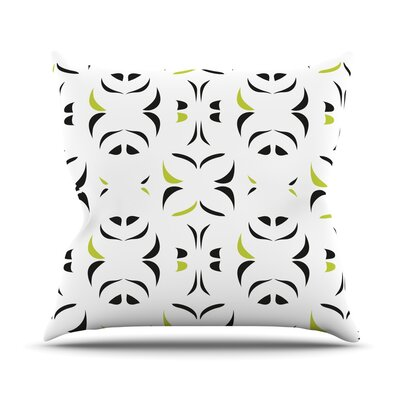 Retro Green Snow Storm Throw Pillow Size: 20 H x 20 W