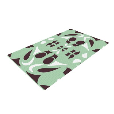 Miranda Mol Swirling Teal/Brown Area Rug Rug Size: 4 x 6