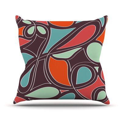 Retro Swirl Outdoor Throw Pillow Size: 18 H x 18 W x 3 D