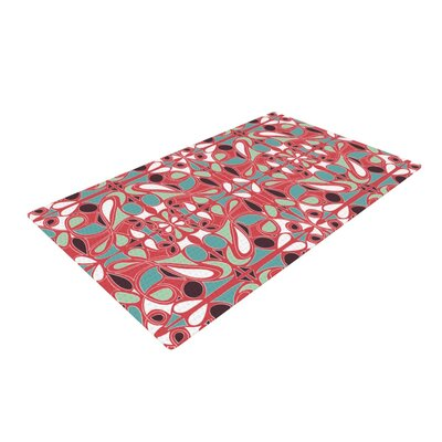 Miranda Mol Stained Glass Pink Area Rug Rug Size: 2 x 3