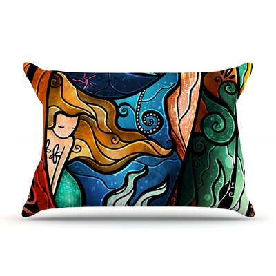 Fathoms Below Mermaid Pillow Case Size: King