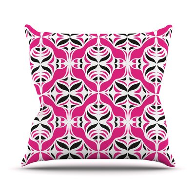 Throw Pillow Color: Think Pink, Size: 18 H x 18 W
