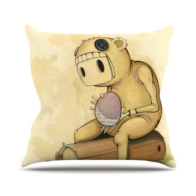 In All the While Throw Pillow Size: 16 H x 16 W