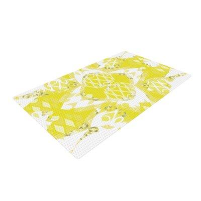 Miranda Mol Citrus Spritz Yellow Area Rug Rug Size: 2 x 3
