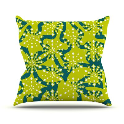 Festive Splash Throw Pillow Size: 18 H x 18 W